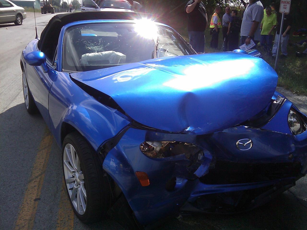 A car needing repairs
