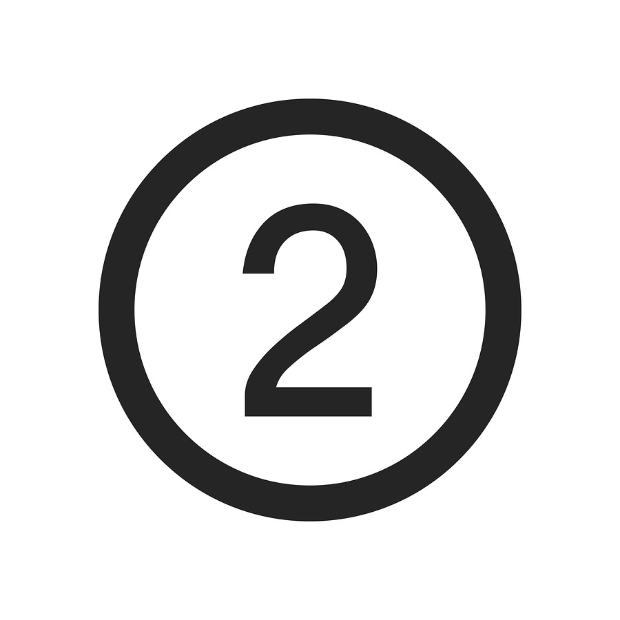 Number 2 Icon Simple Vector Sign And Modern Symbol. Number 2 Vec